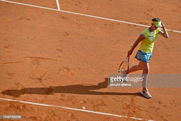 Ukraine's Elina Svitolina during the quarterfinal match against Germany's Barthel at the WTAtour in Nuremberg Germany 22 May 2014 Photo...