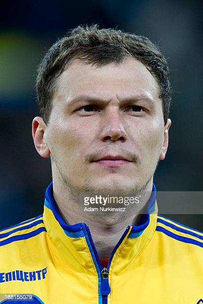 Ukraine's goalkeeper Andriy Pyatov before the FIFA 2014 World Cup Qualifier Playoff First Leg soccer match between Ukraine and France at the Olympic...