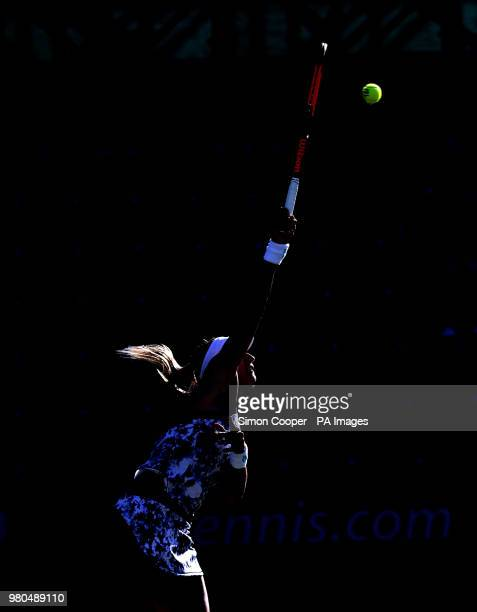 Ukraine's Lesia Tsurenko serves during day four of the Nature Valley Classic at Edgbaston Priory Birmingham