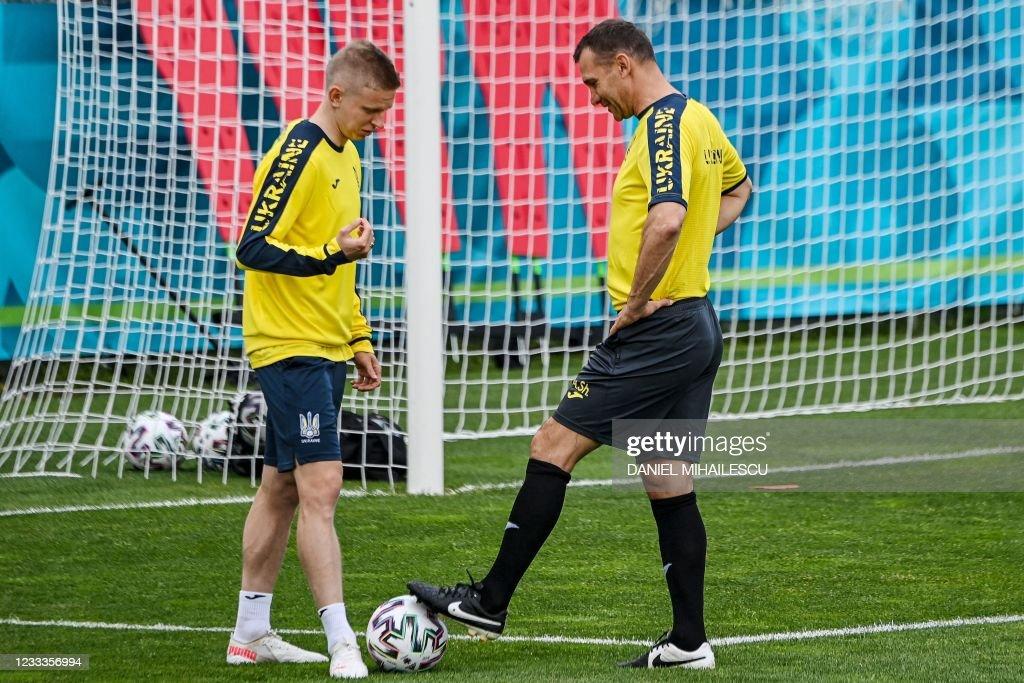 FBL-EURO-2020-2021-UKR-TRAINING : News Photo