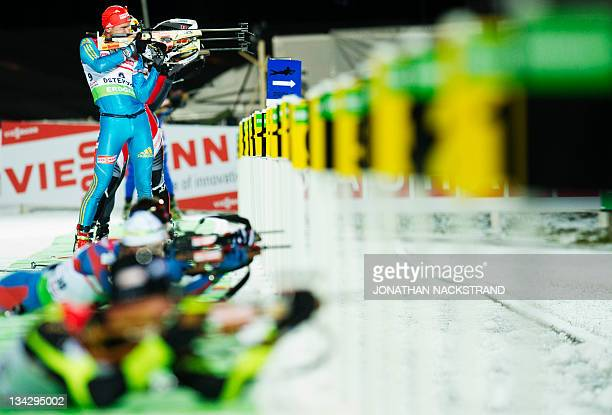 Ukraine's Serhiy Semenov competes in the men's Biathlon 20km individual race on November 30 2011 in Ostersund Sweden AFP PHOTO/JONATHAN NACKSTRAND