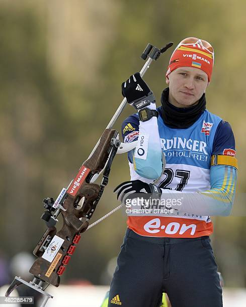 Ukraine's Serhiy Semenov during the warm up ahaed the men 20 km individual at the Biathlon World Cup on January 11 in Ruhpolding southern Germany AFP...