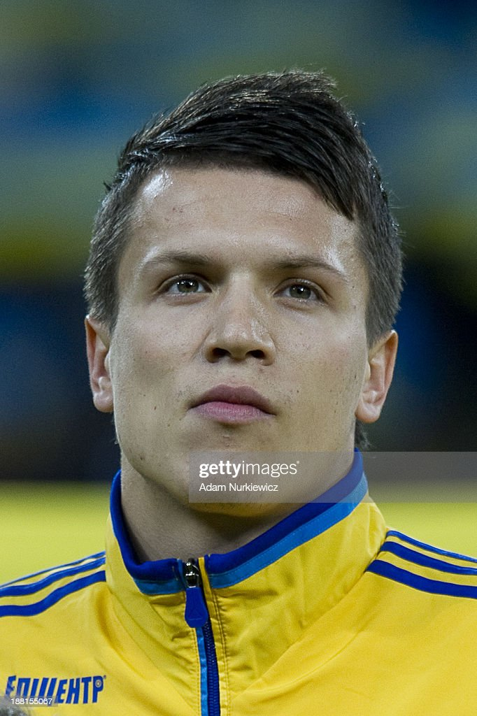 Ukraine's Yevhen Konoplyanka before the FIFA 2014 World Cup Qualifier Play-off First Leg soccer match between Ukraine and France at the Olympic Stadium on November 15, 2013 in Kiev, Ukraine.