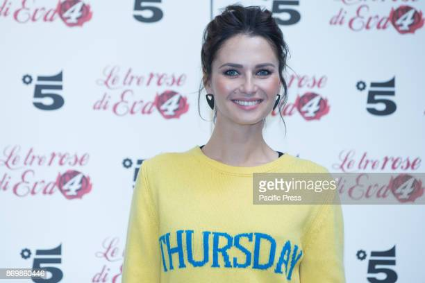 Ukrainian actress Anna Safroncik during the Photocall in Rome of Italian Fiction Mediaset 'The Three Roses of Eve 4' produced by Endemol Shine Italy