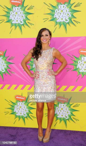 Ukrainian actress Karina Smirnoff arrives at Nickelodeon's 26th Annual Kids' Choice Awards at USC Galen Center in Los Angeles USA on 23 March 2013...