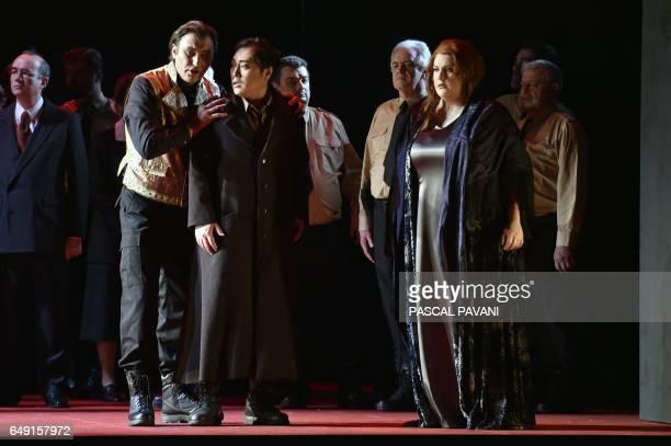 Ukrainian baritone Vitaliy Bilyy in the role of Don Carlo South Korean tenor Alfred Kim in the role of Ernani and American soprano Tamara Wilson in...