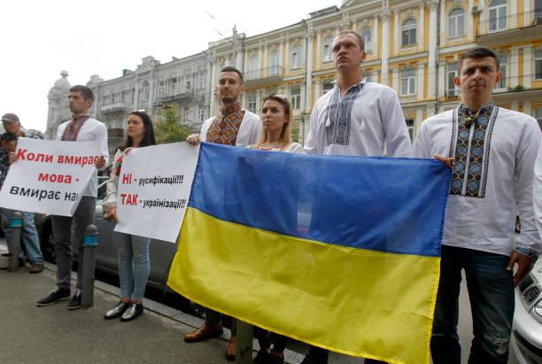 UKR: Ukrainian Far-right Activists Protest In Kyiv
