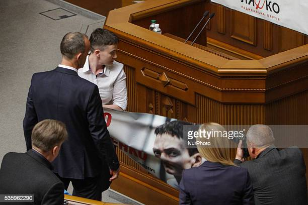 Ukrainian military lawmaker of Ukrainian Parliament and member of Parliamentary Assembly of the Council of Europe Nadiya Savchenko released from a...
