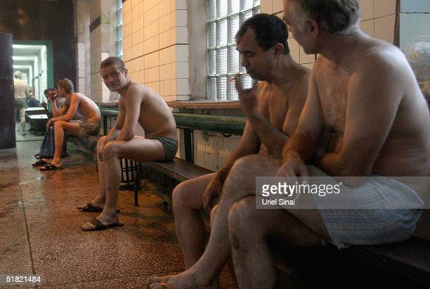Ukrainian mine workers seen waiting to shower on December 3 2004 in Donetsk UkraineThe miners receive $250 US dollars a month The staff who work...