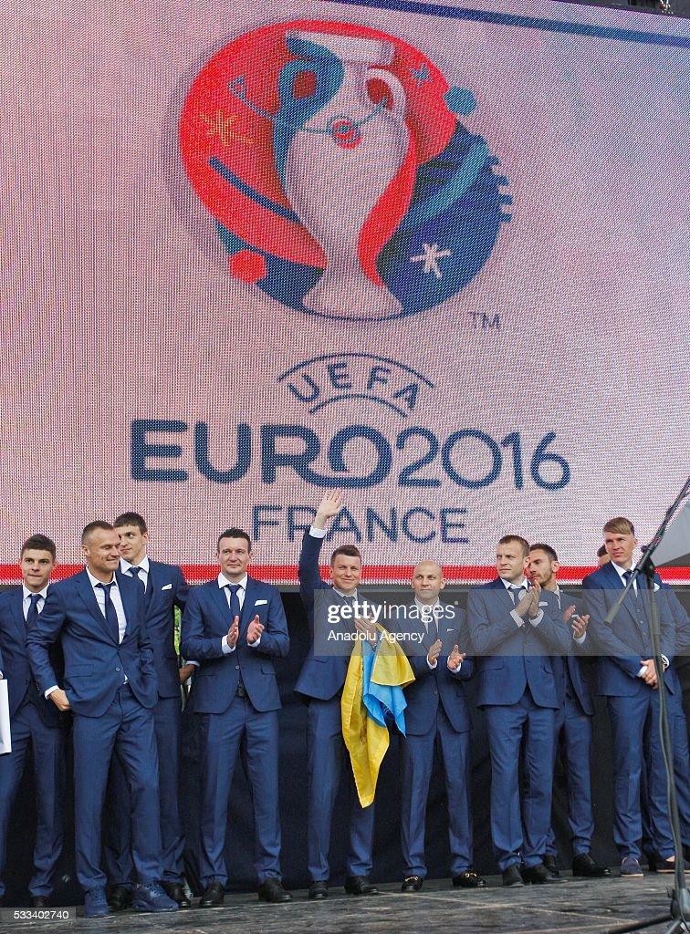 Departure of the Ukrainian National football team to the UEFA EURO 2016 : News Photo