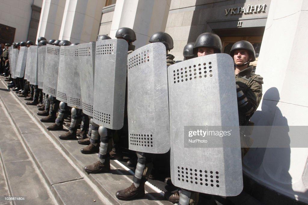 Far-right Groups Protest In Kiev