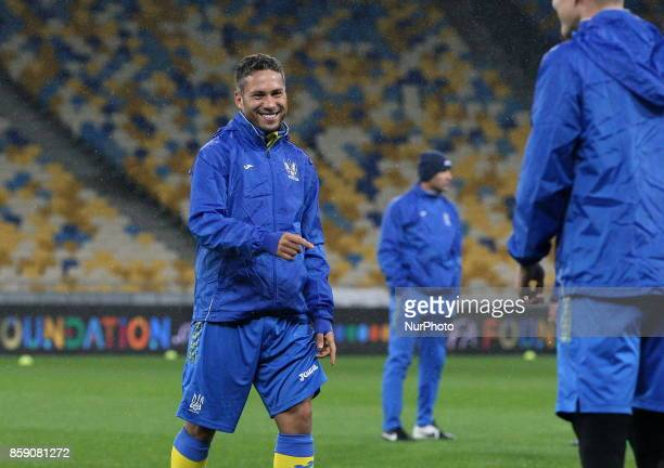 Ukrainian national team player Marlos during training before the World Cup Group I qualifying soccer match between Ukraine and Croatia at the Olympic...