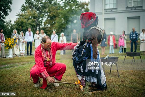 Ukrainian pagans celebrate Svetovid one of the main Slavic holidays Kiev Ukraine on September 27 2015