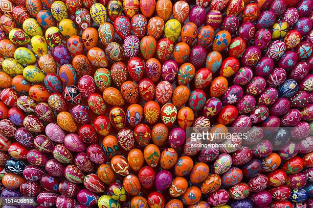 ukrainian painted eggs - easter egg stock pictures, royalty-free photos & images