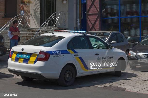 Ukrainian patrol police car