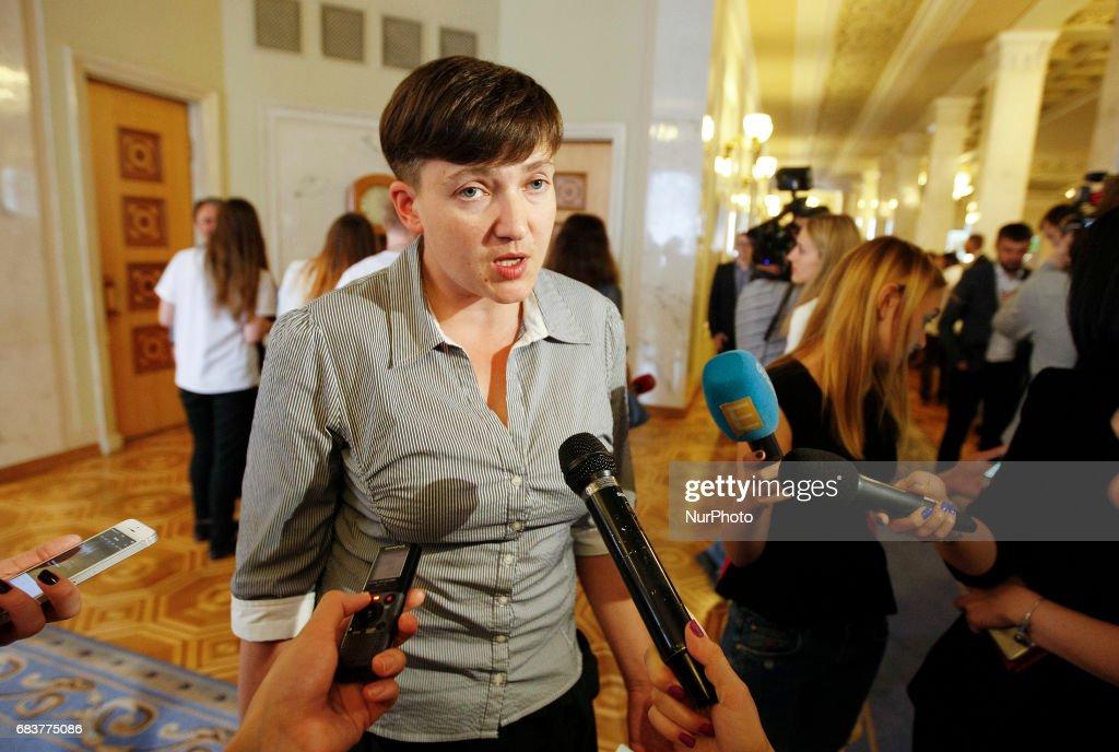 Ukrainian pilot and member of the Ukrainian parliament Nadia Savchenko : News Photo