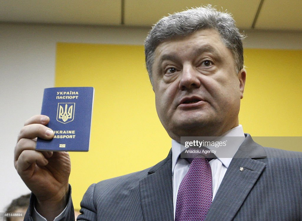 Ukrainian President Poroshenko receives his biometrical passport