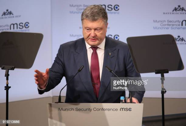Ukrainian President Petro Poroshenko held a speech at the Munich Security Conference In his speech he called to help Ukraine against Russia The...