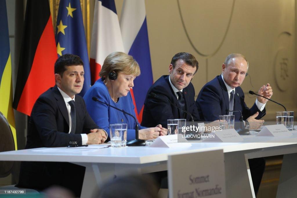 FRANCE-RUSSIA-GERMANY-UKRAINE-POLITICS-CONFLICT-DIPLOMACY : News Photo