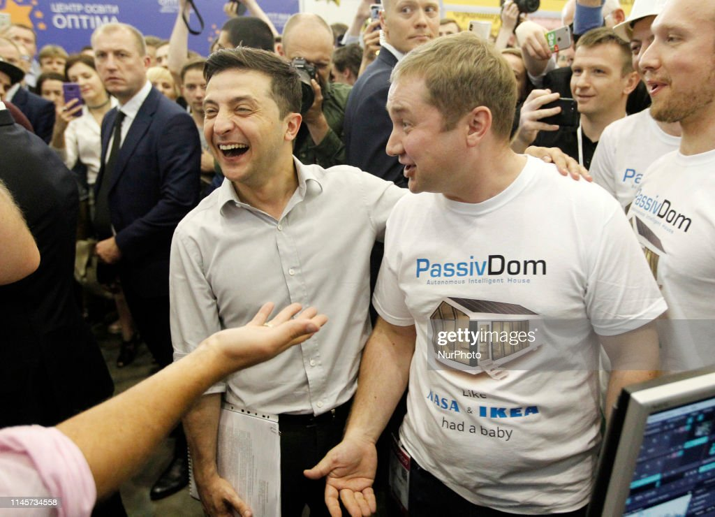 UKR: Ukrainian President Volodymyr Zelensky Visits 'iForum 2019' In Kiev