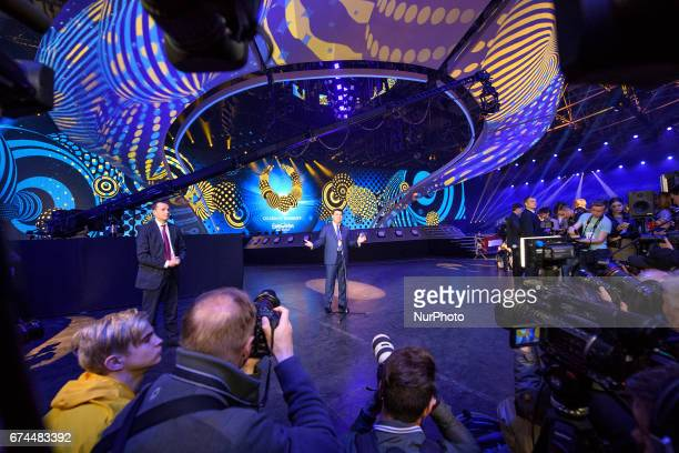 Ukrainian Prime Minister Volodymyr Groysman visits the International Exhibition Centre which will be the arena for the Eurovision Song Contest 2017...
