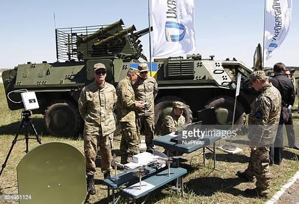"Ukrainian servicemen at a military training ground ""Desna"", in the Chernigov region, Ukraine, on 11 May, 2015. Ukrainian president Petro..."