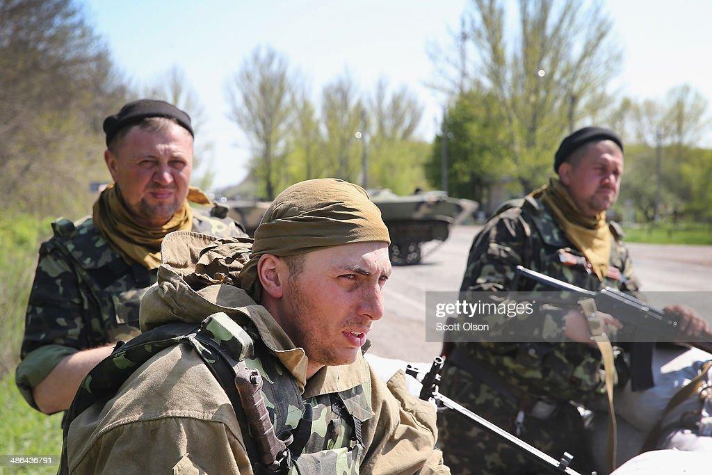 Tension Mounts In Eastern Ukraine : News Photo
