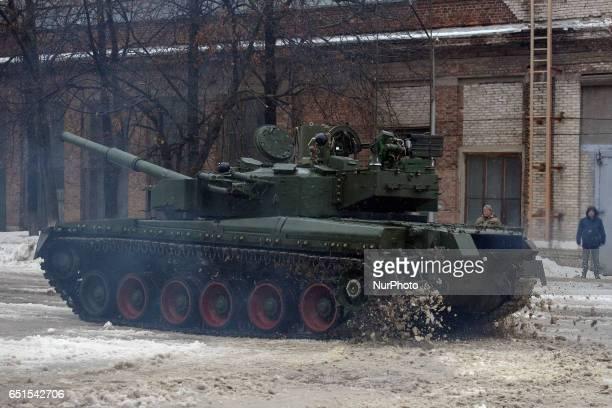 Ukrainian tank Oplot in Kharkiv Ukraine on February 23 2017