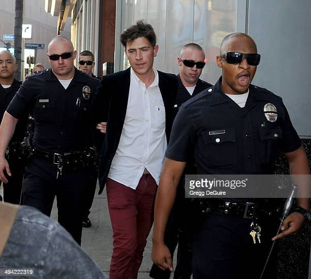 Ukrainian TV reporter Vitalii Sediuk arrested at the World Premiere Of Disney's 'Maleficent' at the El Capitan Theatre on May 28 2014 in Hollywood...