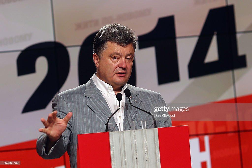 Petro Poroshenko Press Conference : Photo d'actualité