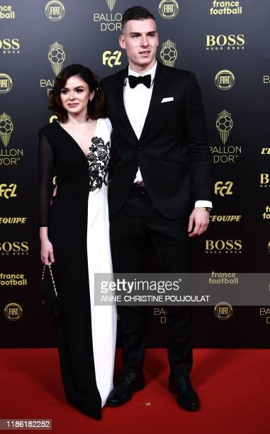 Ukrain's goalkeeper Andriy Lunin arrives to attend the Ballon d'Or France Football 2019 ceremony at the Chatelet Theatre in Paris on December 2 2019
