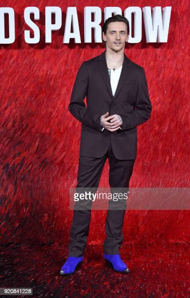 Ukranian ballet dancewr and actor Sergei Polunin poses on the red carpet on arrival to attend the European premiere of the film Red Sparrow in London...