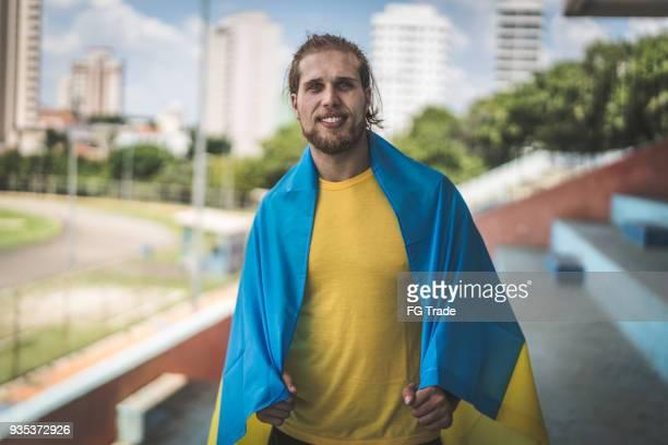 Retrato de fã ucraniano