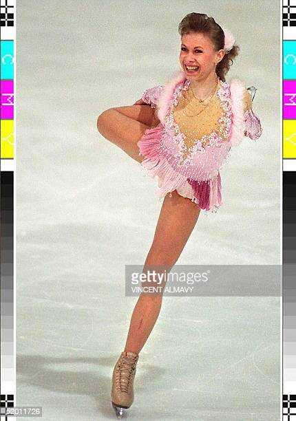Ukranian Oksana Baiul performs 22 January 1994 at the European figure skating championships in Copenhagen where she finished second Reigning Olympic...