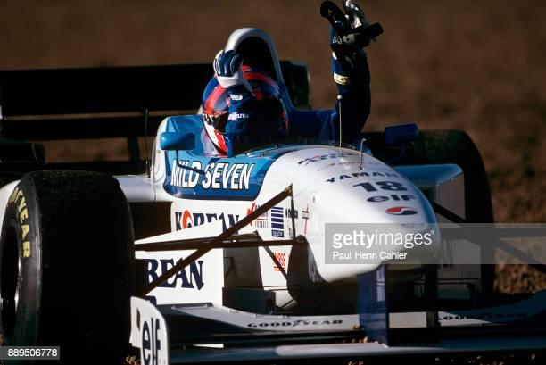 Ukyo Katayama TyrrellYamaha 024 Grand Prix of Argentina Autodromo Oscar Alfredo Galvez Buenos Aires 07 April 1996 Ukyo Katayama retiring from the...