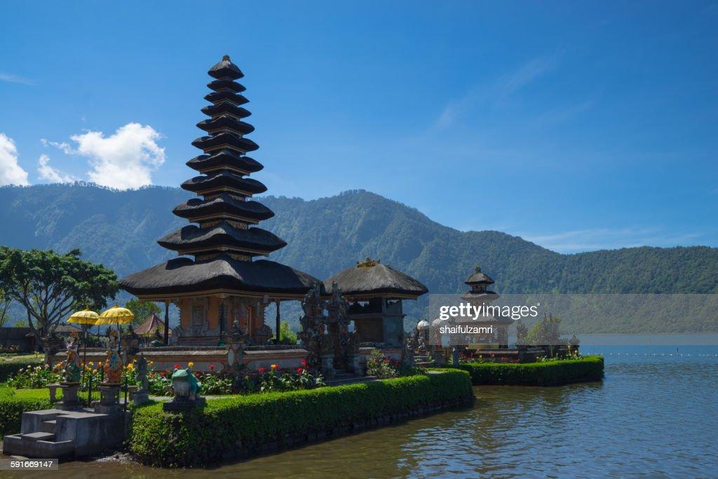 Ulan Danu temple in Bali : Stock Photo