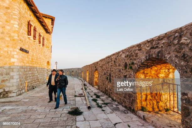 ulcinj old town - dafos stock photos and pictures