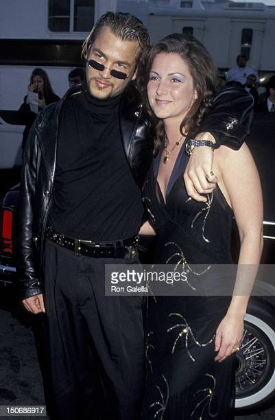 Ulf Ekberg and Jenny Berggren of Ace of Base attend 22nd Annual American Music Awards on January 30 1995 at the Shrine Auditorium in Los Angeles...