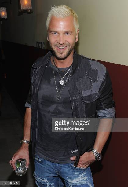 Ulf Ekberg of Ace of Base attends the after party following a special screening of 'Buried' hosted by The Cinema Society and 2ist at the Soho Grand...