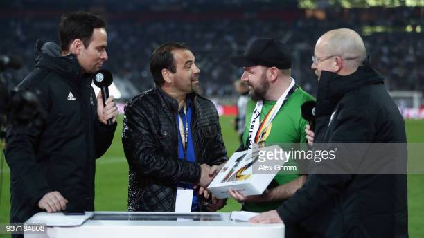 Ulf Kirsten new member of the Fan Club National Team during the international friendly match between Germany and Spain at EspritArena on March 23...