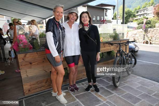 Uli Ehrlich, Dirndl fashion designer and owner of Sportalm, Ulrike Krages, UK3 Urban Interiors and Alexandra von Rehlingen during the first Ladies...