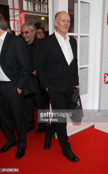 Uli Exner during the Henri Nannen Award red carpet arrivals on April 27 2017 in Hamburg Germany