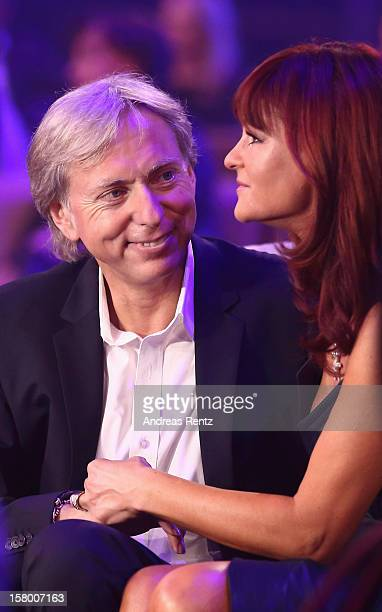 Uli Ferber and Andrea Berg smile during the Andrea Berg 'Die 20 Jahre Show' at Baden Arena on December 7 2012 in Offenburg Germany