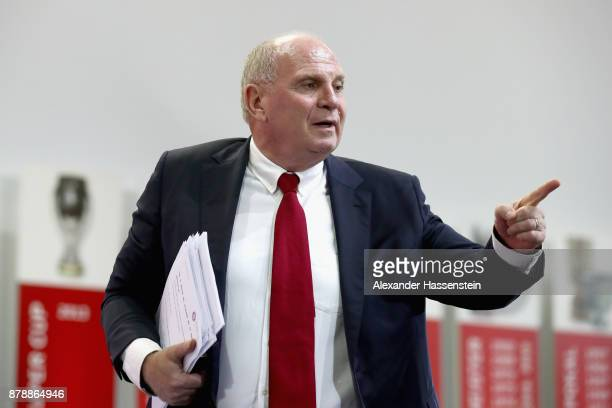 Uli Hoeness President of FC Bayern Muenchen during the FC Bayern Muenchen Annual General Assembly at AudiDome on November 24 2017 in Munich Germany