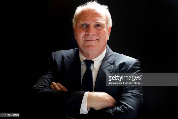 Uli Hoeness President of FC Bayern Muenchen poses after an interview on March 23 2017 in Munich Germany