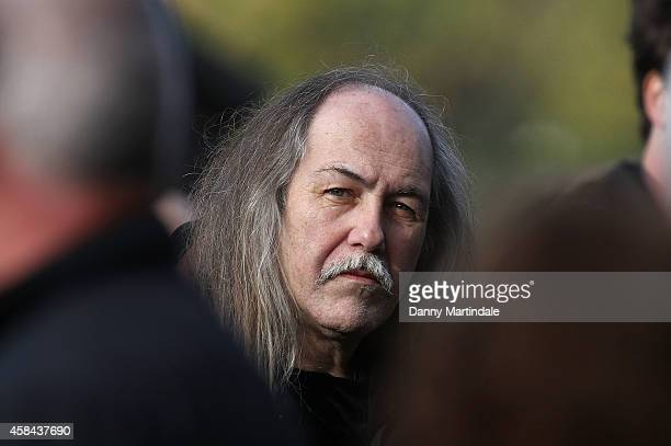 Uli Jon Roth attends the funeral of Jack Bruce at Golders Green Crematorium on November 5 2014 in London England