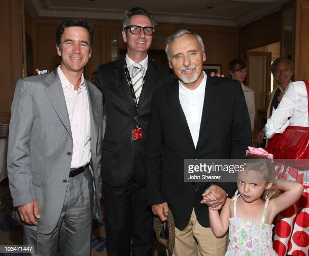 Uli Maybach David Wasserman actor Dennis Hopper and daughter Galen Grier Hopper attend the Maybach Family Foundation Luncheon at the Carlton Hotel...