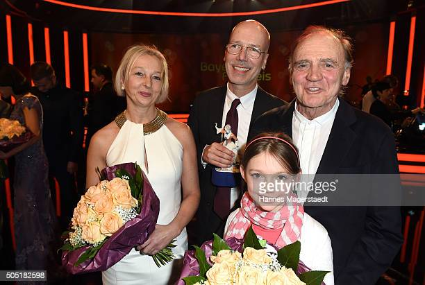 Uli Putz Jakob Claussen Bruno Ganz and Anuk Steffen during the Bavarian Film Award 2016 show at Prinzregententheater on January 15 2016 in Munich...