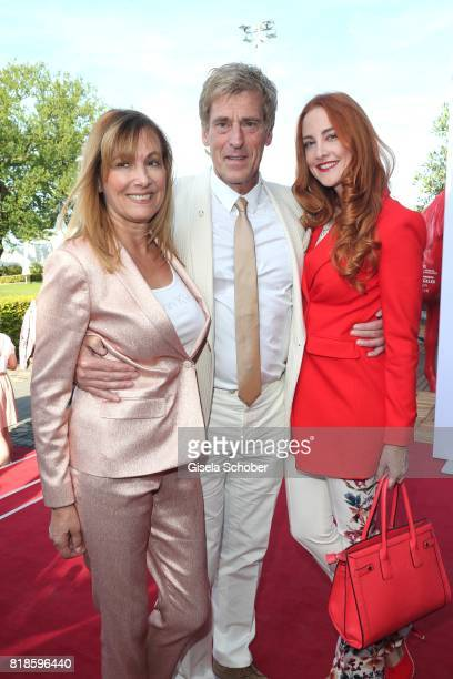 Uli Stein and his wife Cornelia Stein and his daughter Jennifer Stein during the media night of the CHIO 2017 on July 18 2017 in Aachen Germany