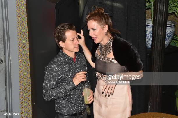 Ulises Liceaga and Christina Liceaga attend Billy Macklowe's 50th Birthday Spectacular at Chinese Tuxedo on April 21 2018 in New York City